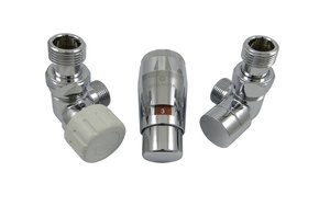 Комплект трехосевой левый GZ1/2 x M22x1,5 Хром с головкой Мини M30x1,5