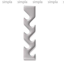 Дизайн-радиатор Varmann Spica 1800, цвет по RAL